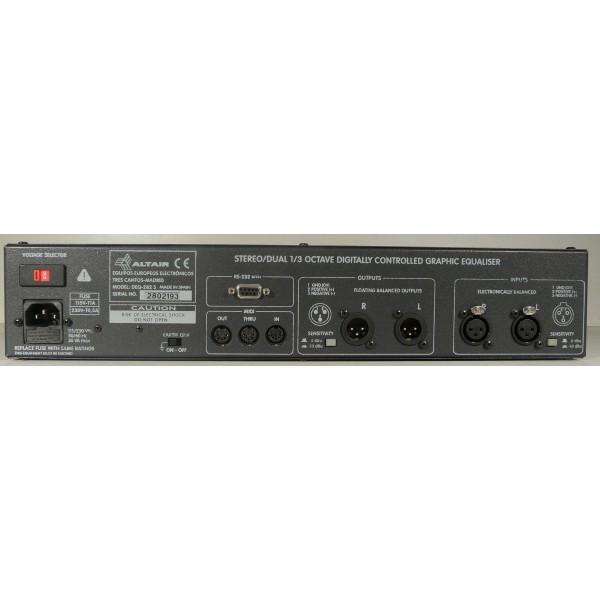 ALTAIR : EQ 282S – Equaliseur 27 bandes stéréo symétrique numérique-385