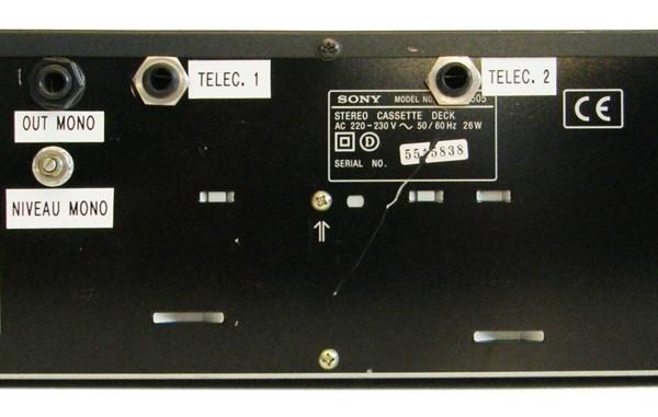 SONY : TC WE 505 – Double Lecteur enregistreur K7-553